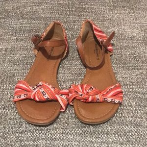 Mossimo Red Fabric Sandals
